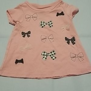 🎀First impressions pink bow tee